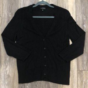 Limited 3/4 sleeve black cardigan